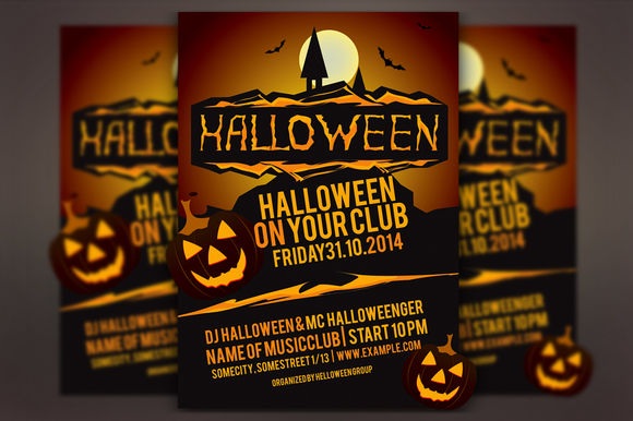 Halloween Party Vector Flyer by Llassety is available from CreativeMarket for $4.