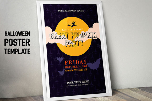Halloween Party Poster by TypeandGraphicsLab is available from CreativeMarket for $5.