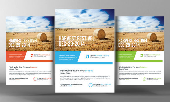 Harvest Festival Flyer Template by BusinessTemplates is available from CreativeMarket for $6.