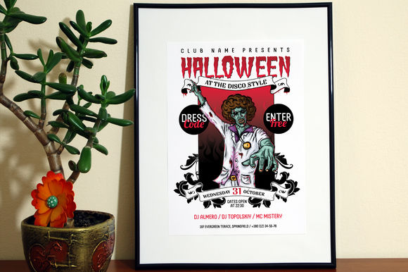 Helloween Poster Template by Itembridgecreativestore is available from CreativeMarket for $7.