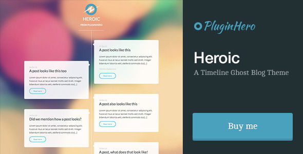 Heroic by PluginHero is a Ghost theme which features fully responsive layouts, can be used for your portfolio, is great for your personal site, blogging related layouts and optimizations and  minimal design.
