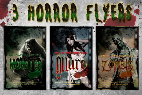 Horror Flyer Bundle by LucionCreative is available from CreativeMarket for $6.