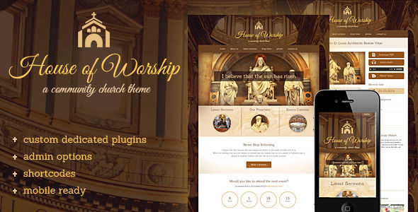 House Of Worship by FamousThemes is a news magazine WordPress theme with video support which features fully responsive layouts, search engine optimization, can be used for your portfolio and a grid layout.