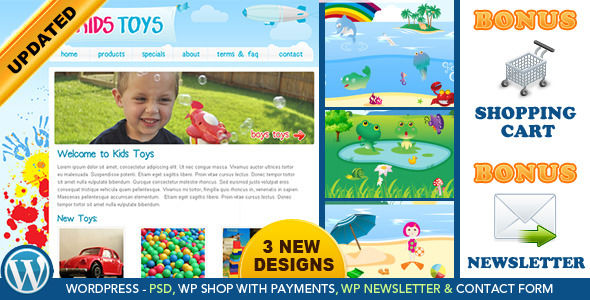 Kids Toys by Dtbaker is a kids store WordPress theme which features support for RTL languages and WooCommerce integration.