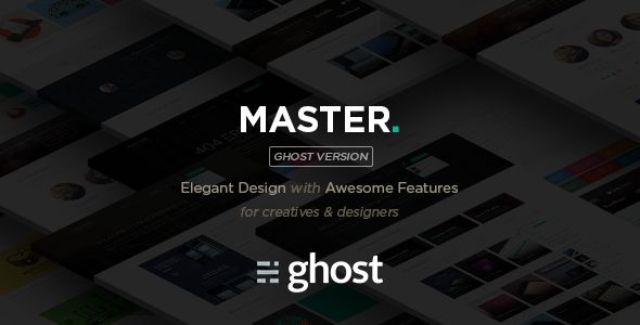 Master Corporate Multi-Purpose Ghost Blog by Createit-pl is a Ghost theme which features parallax elements, fully responsive layouts, clean design, Bootstrap framework utilization, can be used for your portfolio, corporate style visuals, masonry post layouts and  minimal design.
