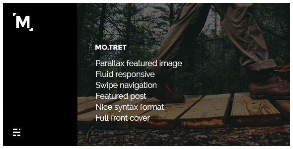 Motret Fullscreen Cover Ghost Theme by Playwork is a Ghost theme which features fully responsive layouts, blogging related layouts and optimizations and  minimal design.