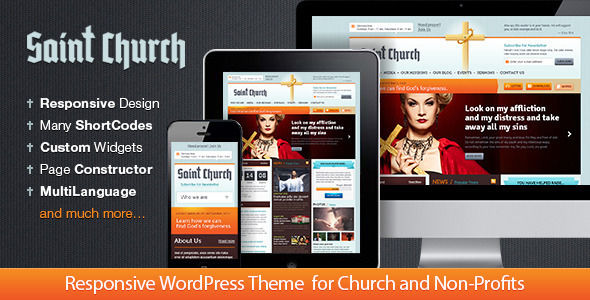 SaintChurch by StylemixThemes is a news magazine WordPress theme with video support which features fully responsive layouts.
