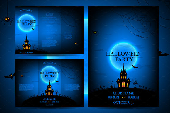 Set Of Flyers For Halloween by MagicShop is available from CreativeMarket for $20.