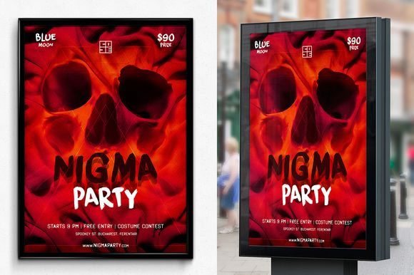 Skull Nigma Halloween Party by SNKs is available from CreativeMarket for $6.
