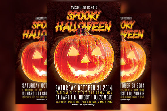 Spooky Halloween Party Flyer by Flyermind is available from CreativeMarket for $6.