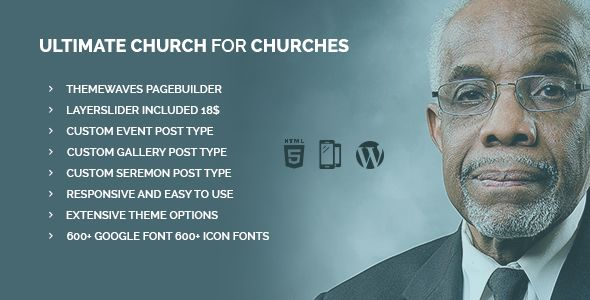 Ultimate Church by Themewaves is a news magazine WordPress theme with video support which features parallax elements, one page layouts, fully responsive layouts, search engine optimization, Revolution Slider and clean design.