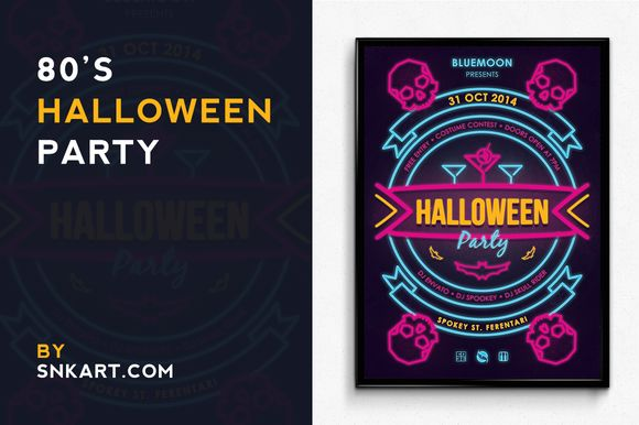 Vintage Halloween Party Poster by SNKs is available from CreativeMarket for $6.