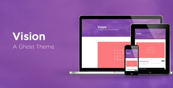 Vision A Minimal Ghost Theme by Contempoinc is a Ghost theme which features fully responsive layouts, clean design, flat design aesthetics and  minimal design.