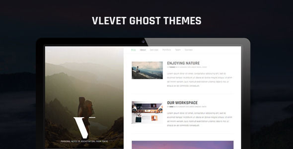 Vlevet Traveler Ghost Theme by Playwork is a Ghost theme which features fully responsive layouts, Bootstrap framework utilization, is great for your personal site, corporate style visuals and  minimal design.