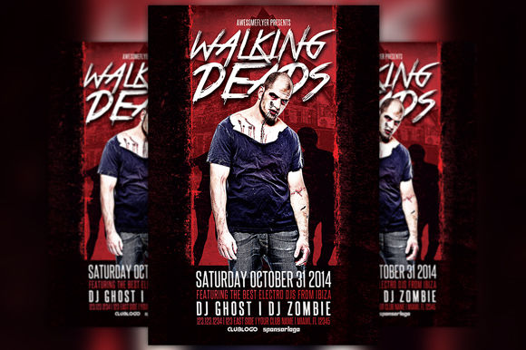 Walking Deads Halloween Party Flyer by Flyermind is available from CreativeMarket for $6.