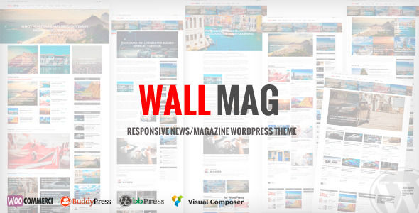 WallMag by RoyalwpThemes is a news magazine WordPress theme with video support which features Mega Menu, one page layouts, fully responsive layouts, search engine optimization, Revolution Slider, WooCommerce integration, can be used for your portfolio and magazine style layouts.