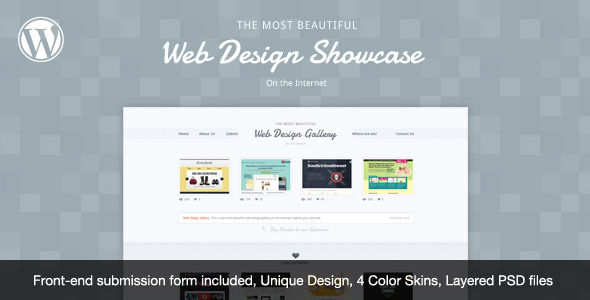 Web Design Showcase by Cssmania is a niche WordPress theme with frontend submission functionality which features Google Fonts support.