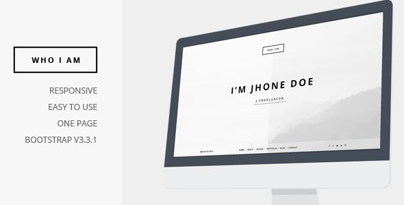 Who I Am by KlbTheme is a WordPress theme which features Retina display support, parallax elements, one page layouts, fully responsive layouts, Revolution Slider, Bootstrap framework utilization, can be used for your portfolio and is great for your personal site.