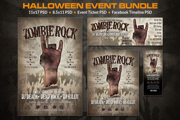 Zombie Event Bundle by PotterDesigns is available from CreativeMarket for $8.
