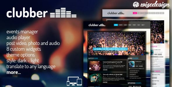 16 of the Finest WordPress Music Themes for Clubs & Events