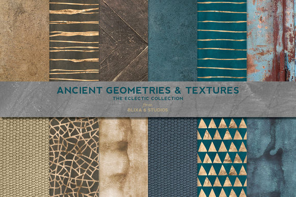 Ancient Geometric Gold And Textures by Blixa6Studios is available from CreativeMarket for $8.