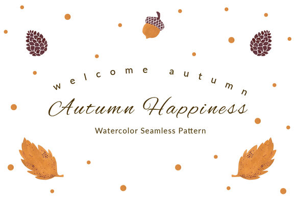 Autumn Happiness Seamless Pattern by HaidiIllustration is available from CreativeMarket for $3.