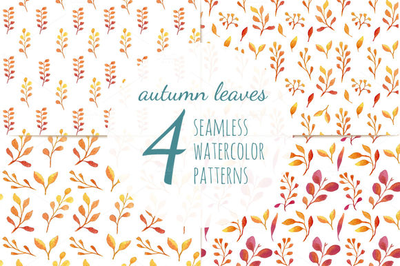 Autumn Leaves Seamless Patterns by HelgaWigandt is available from CreativeMarket for $8.