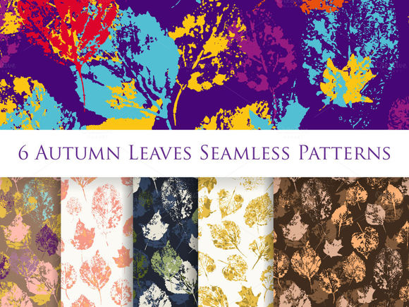Autumn Leaves Seamless Patterns by SunnyArtShop is available from CreativeMarket for $6.