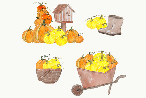 Autumn Watercolor Clipart Set by Pdeasyprint is available from CreativeMarket for $6.