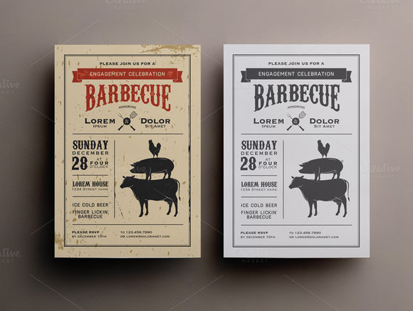 BBQ Invitation Template by 1baranov is available from CreativeMarket for $4.
