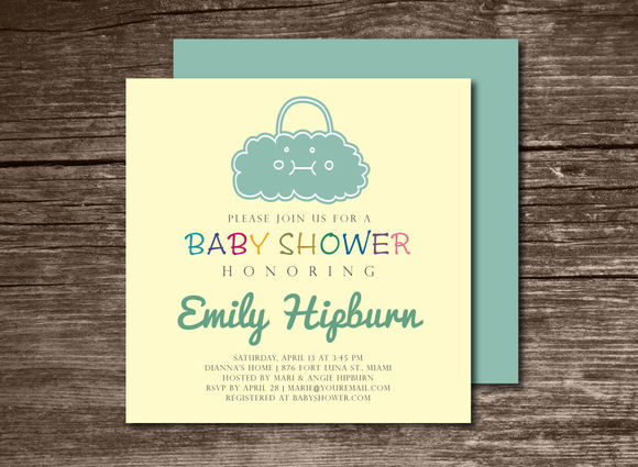 Baby Shower Invitation Bag by Aticnomar is available from CreativeMarket for $6.