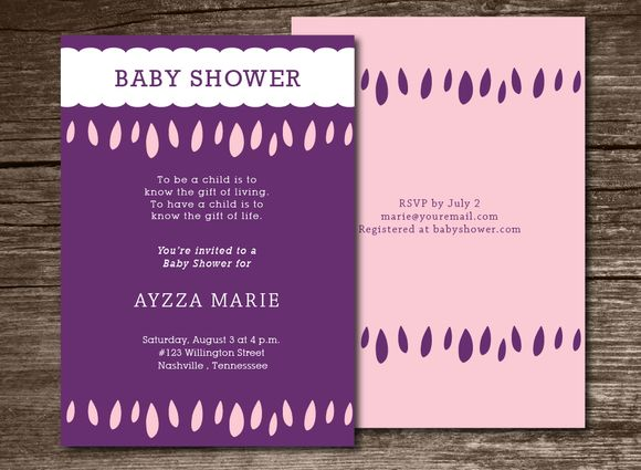 Baby Shower Invitation Clouds by Aticnomar is available from CreativeMarket for $6.