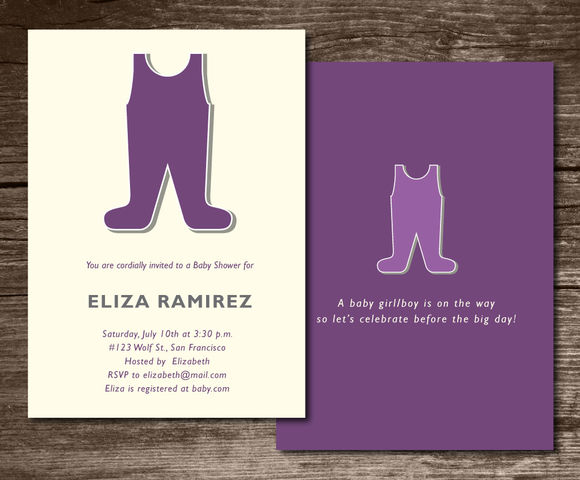 Baby Shower Invitation Cute by Aticnomar is available from CreativeMarket for $6.