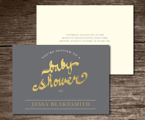 Baby Shower Invitation Handwritten by Aticnomar is available from CreativeMarket for $6.