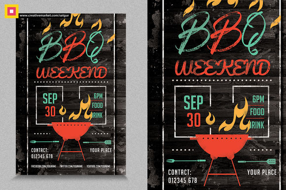Barbecue by SatgurDesignStudio is available from CreativeMarket for $7.