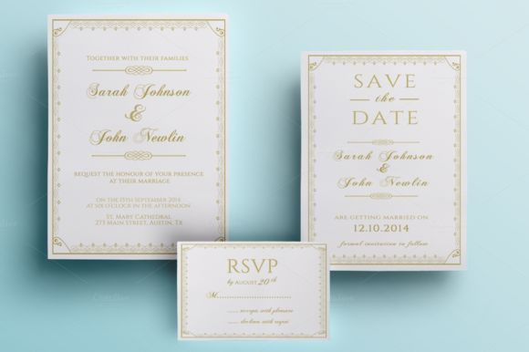 Classic Wedding Invitation Pack by Annago is available from CreativeMarket for $11.