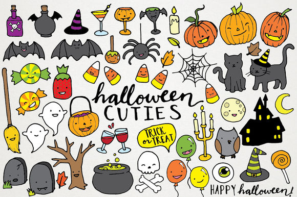 Cute Halloween Clipart Illustrations by LemonadePixel is available from CreativeMarket for $7.
