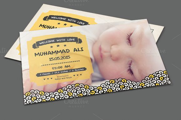 Doodle Baby Announcement by Kholispress is available from CreativeMarket for $3.