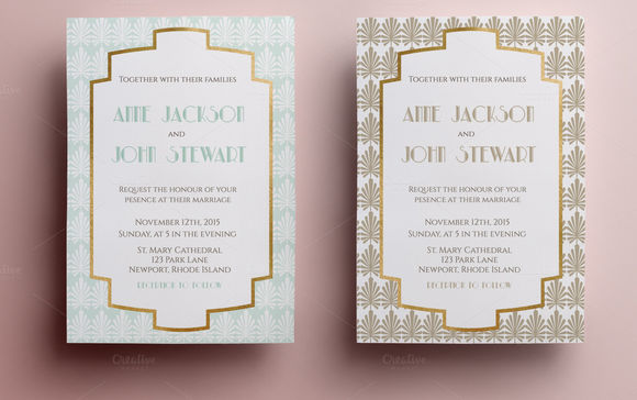 Elegant Wedding Invitation by Annago is available from CreativeMarket for $6.