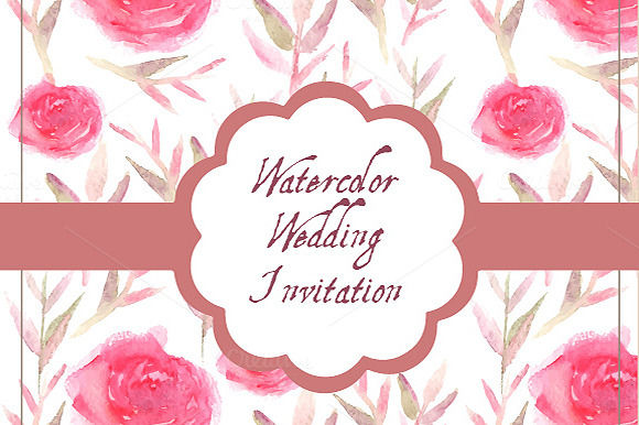 Floral Invitation Set by AnastasiaNio is available from CreativeMarket for $7.