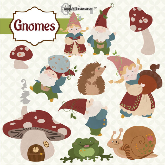 Gnomes by VerdigrisStudios is available from CreativeMarket for $6.