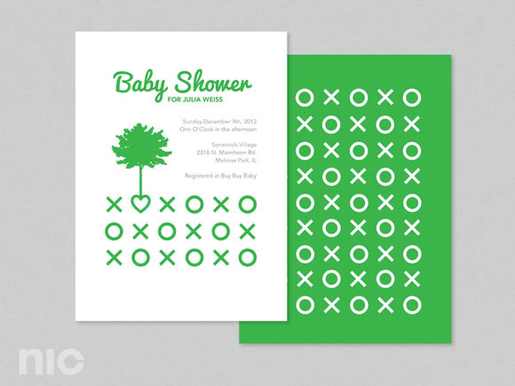 Green Baby Shower by NicoleFrancesca is available from CreativeMarket for $5.