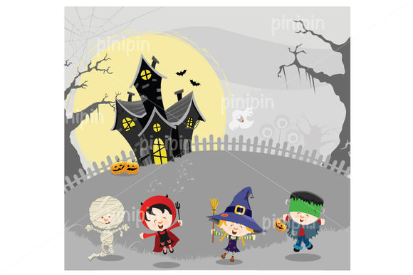 Halloween Kids by Pinipin is available from CreativeMarket for $6.