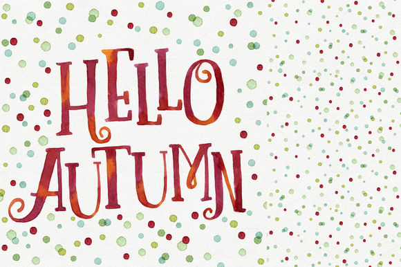 Hello Autumn by HelgaWigandt is available from CreativeMarket for $4.