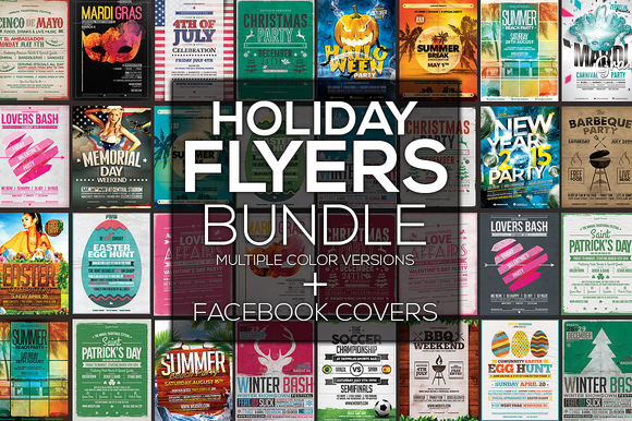 Holiday Flyers by ZeppelinGraphics is available from CreativeMarket for $19.