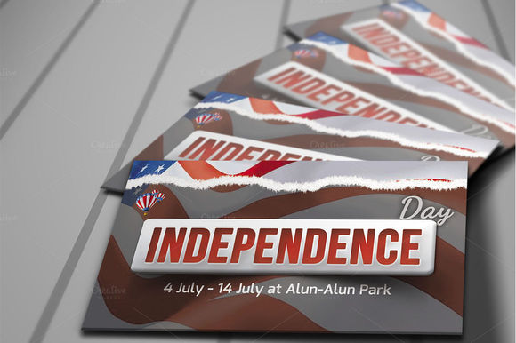 Independence Day Invitation Card by Ciusan is available from CreativeMarket for $7.