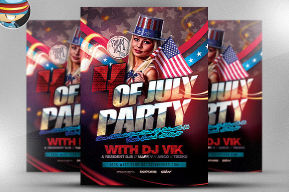July 4th Flyer Template by FlyerHeroes is available from CreativeMarket for $9.