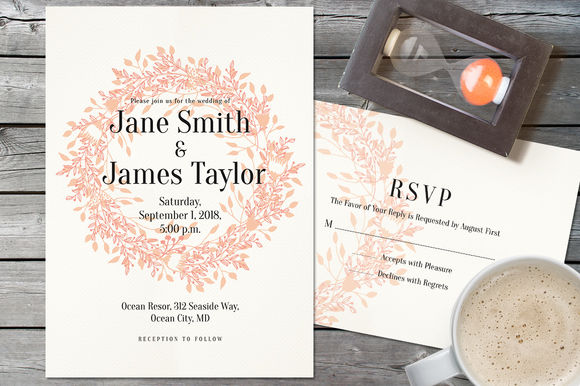 Light Wedding Invitation by Webvilla is available from CreativeMarket for $8.
