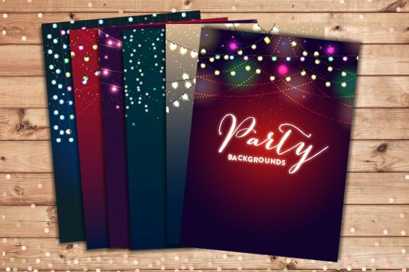 Party Lights Backgrounds EPS And JPG by Pixejoo is available from CreativeMarket for $13.