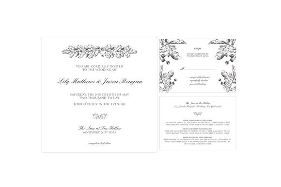 Rustic Leaves Wedding Suite by GrayStarDesign is available from CreativeMarket for $50.
